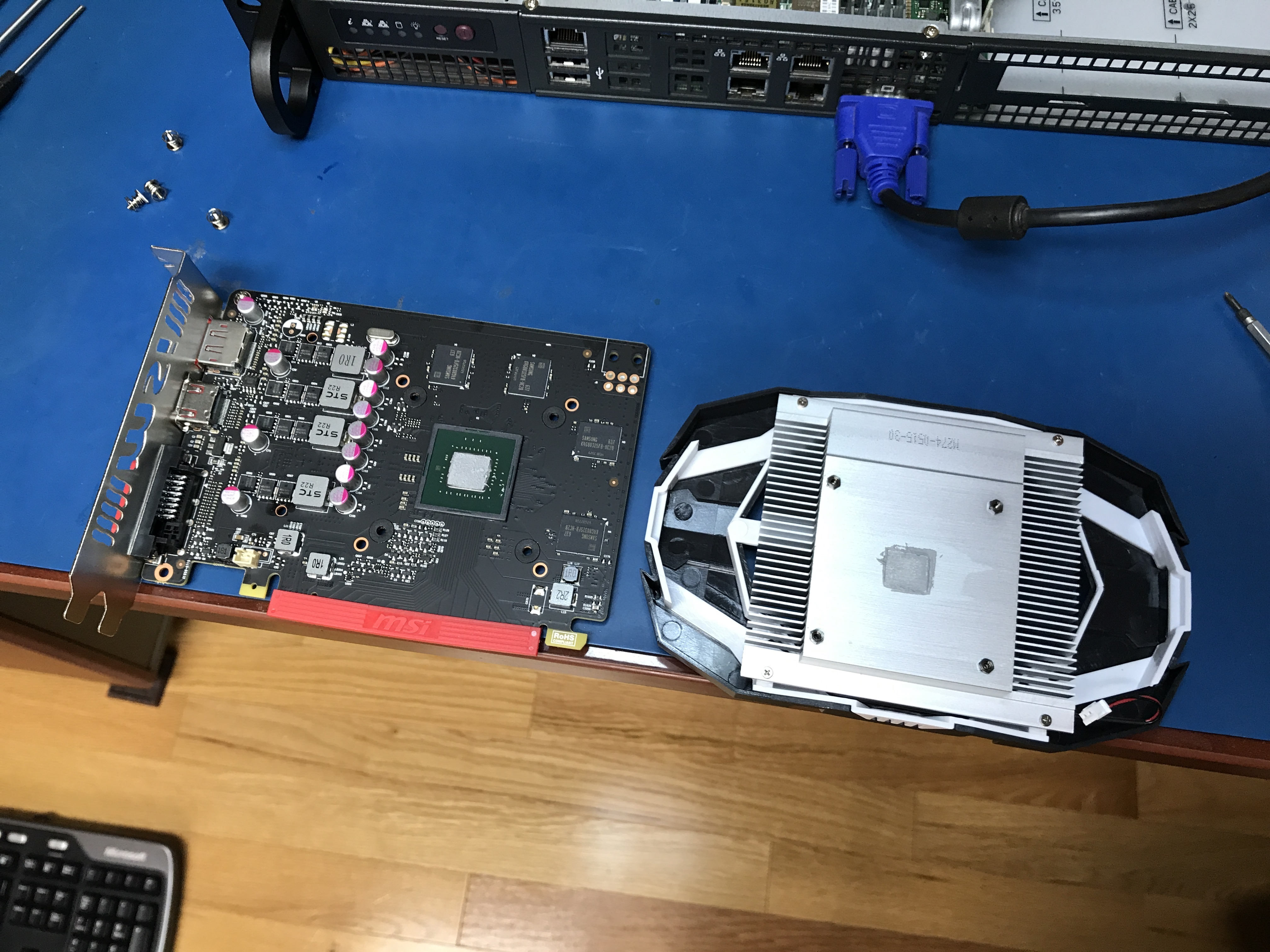 How to disconnect a video card