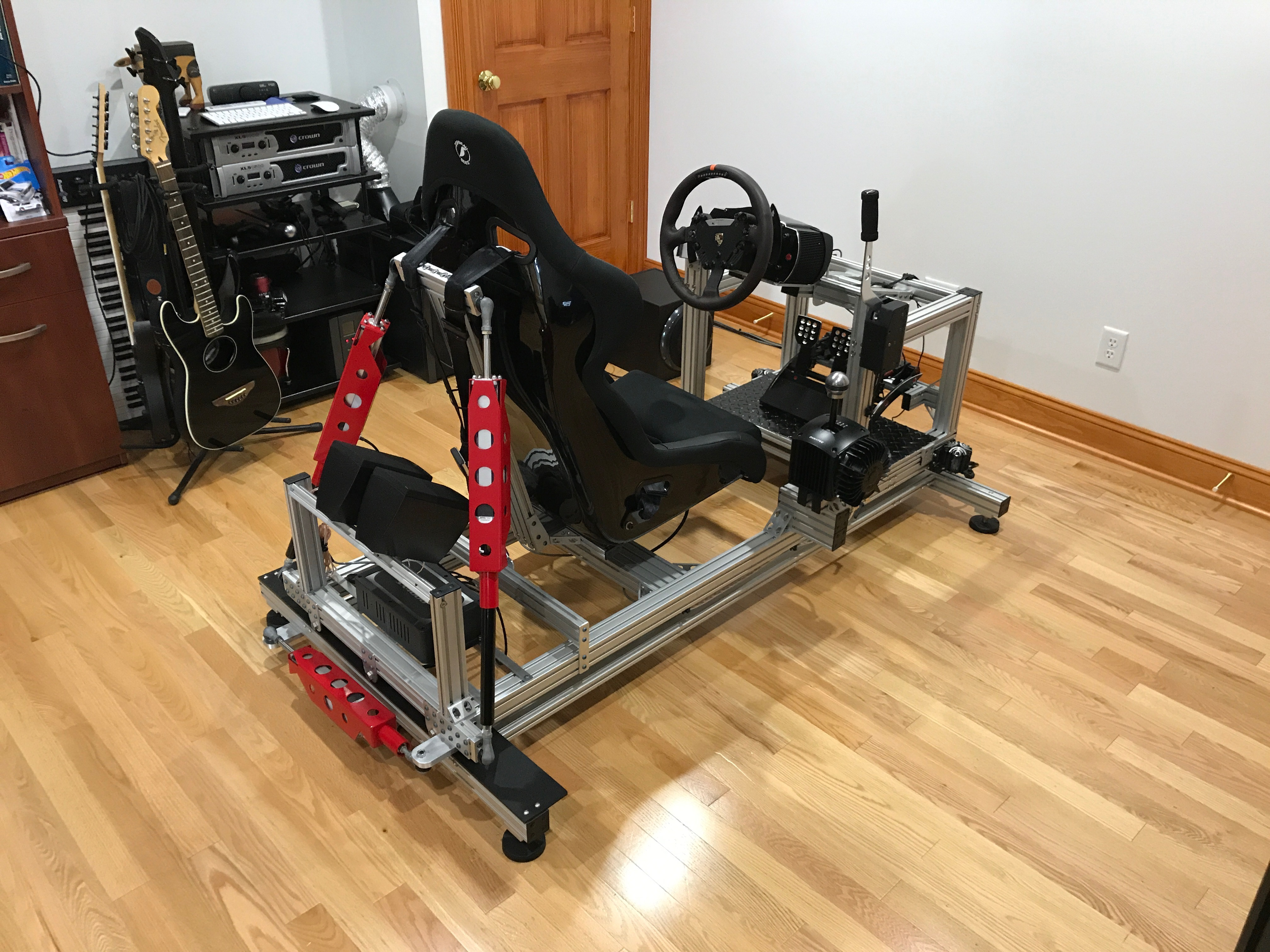 My sim racing motion rig version 2