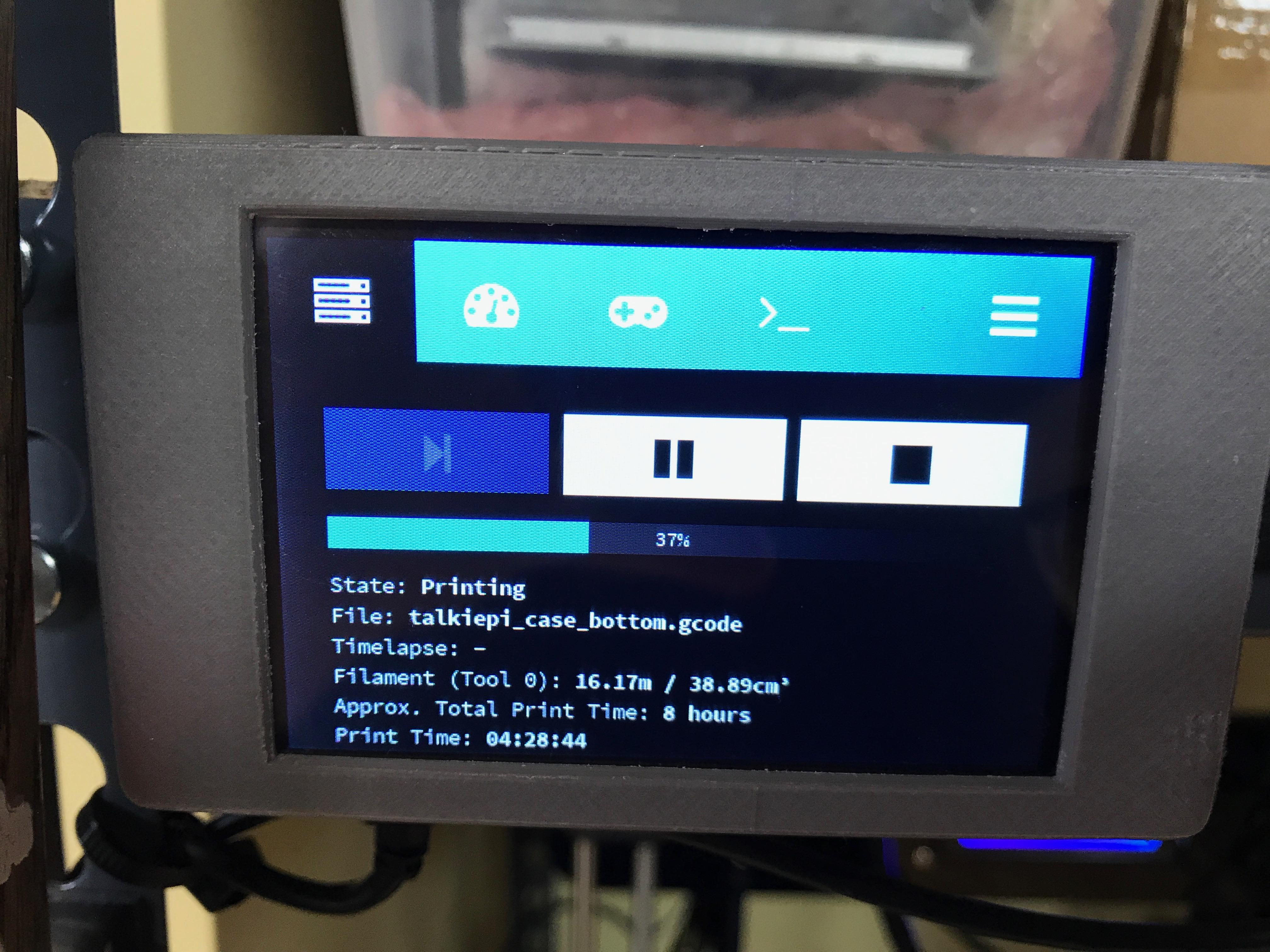 Raspberry Pi Touchscreen Octoprint Controller | Daniel