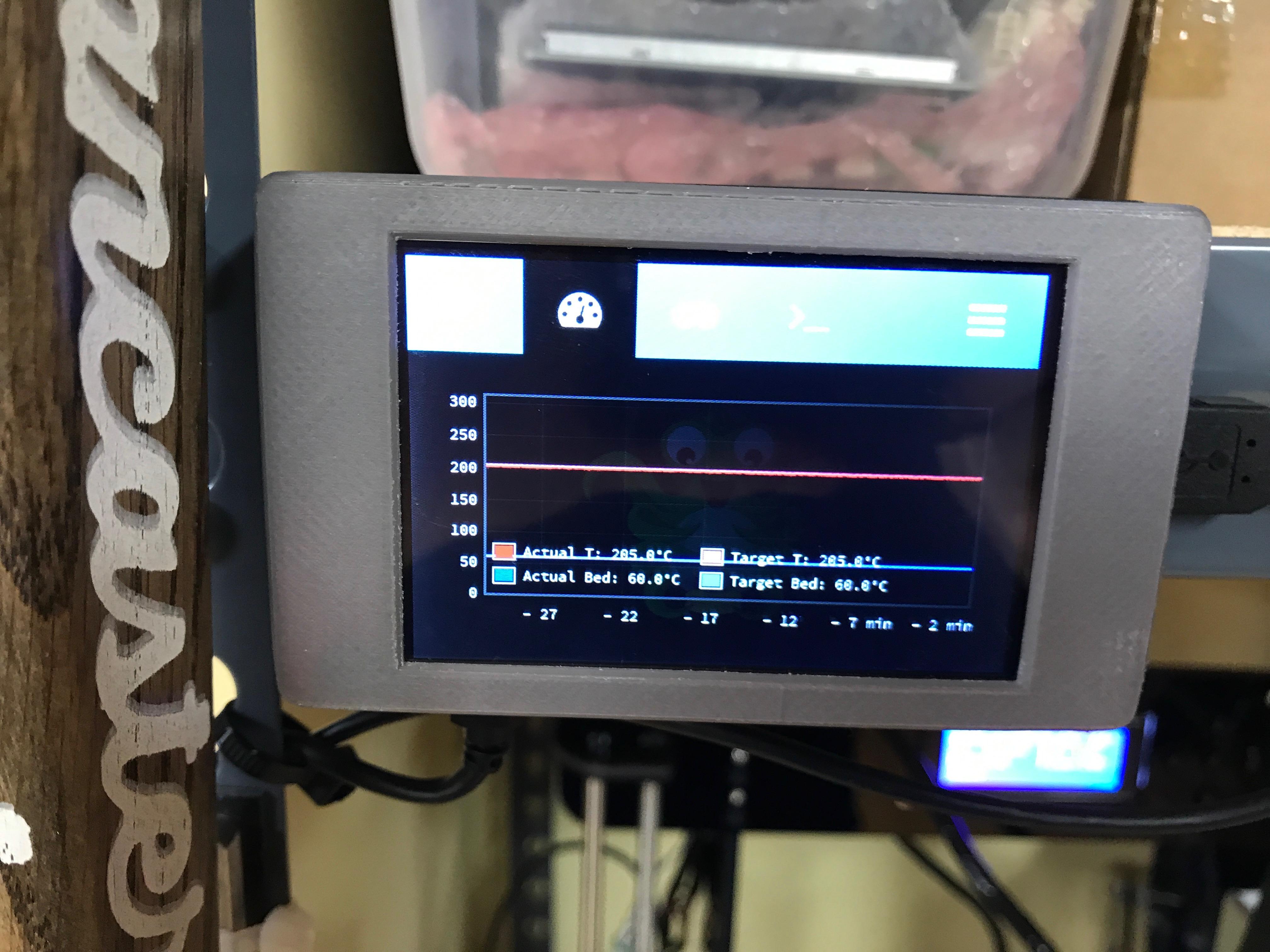 Raspberry Pi Touchscreen Octoprint Controller | Daniel Chote's